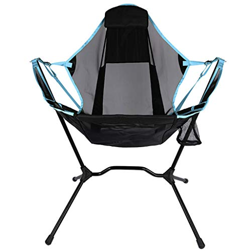 JINGQI 2020 New Aluminum Alloy Camping Chair Moon Chair Recliner Outdoor Folding Chair Fishing Chair Extra Large Rocking Chair with Pillow,Red