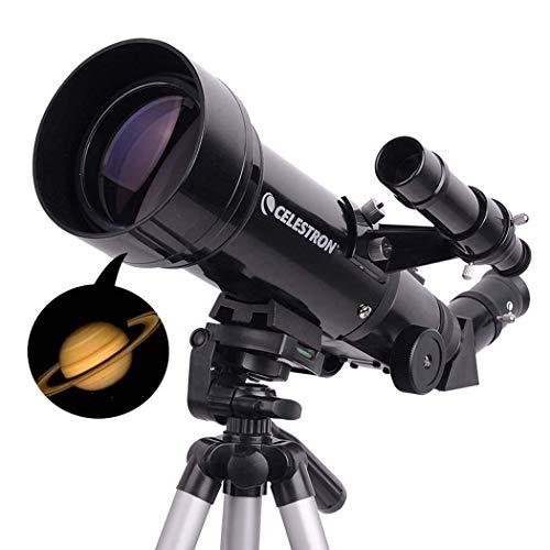 Cxjff Telescopi rifrattori telescopici da Viaggio Portatili Regolabili for Astronomia con Zaino, 120 Volte