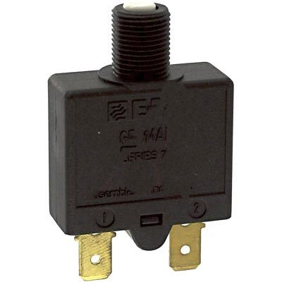 E-T-A Circuit Protection and Control 1658-G41-02-P10-20A , Circuit Breaker; Therm; Push; Cur-Rtg 20A; Flange; 1 Pole; Vol-Rtg 240/28VAC/VDC