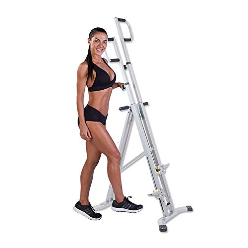DSHUJC Stoge Vertical Climbing Trainingsgerät Climber Fitnessgeräte für das Fitnessstudio zu Hause - Antihaft-Griffe - Höhenverstellbar & LCD-Display - Ganzkörpertraining