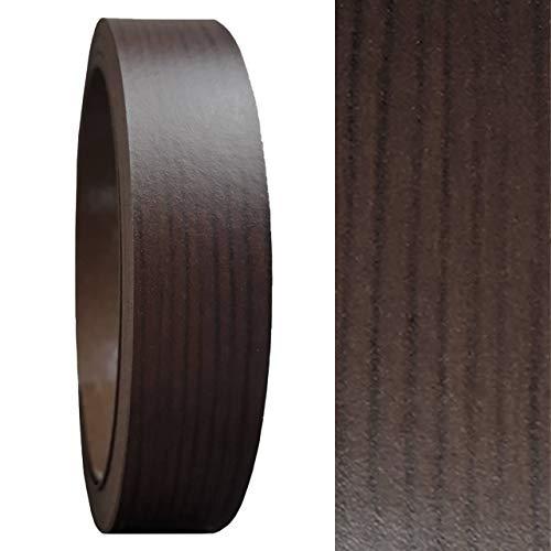 Umleimer 19 mm x 5 Meter in Wenge Holz-Optik SELBSTKLEBEND von Barend Palm als Kantenumleimer OHNE BÜGELN glatt matt ohne Struktur