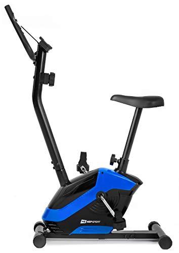 Hop-Sport HS-045H EOS Heimtrainer Fahrrad für Zuhause - kompaktes Fitnessbike mit Pulssensoren und Tablethalterung - Fitnessfahhrad mit Trainingscomputer für EIN max. Nutzergewicht von 120kg Blau
