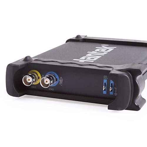 Hantek 6022BE - Osciloscopio Digital (USB, 2 GB), Color Negro y Plateado
