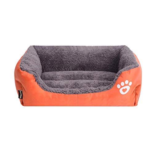 Hundekissen Hundematte Hundebett Rechteck Weiche Hundehütte Für Kleine Hunde Mittlere Hundematte Warmes Katzenbett Nest Haustier SchlafsackWelpenbett Kissen M Orange