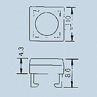 日本電産コパル電子 押しボタンスイッチ取付枠 アイボリー 140000340194
