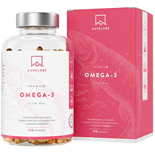 Omega 3 Fish Oil [ 2000mg ] - High Strength - Molecularly Distilled for Purity and Freshness - 800mg EPA & 400mg DHA Per Daily Dose - Non-GMO, Gluten and Dairy Free - 120 Softgels Capsules