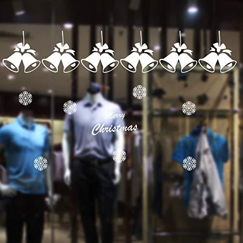 Yiwa Sticker, groot, Kerstmis, klevend, elektrostatisch, ramen, aanpasbaar, voor Kerstmis, winter, Wonderland-decoratie, ornamenten, feestaccessoires