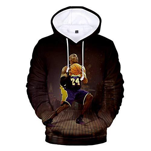hengGuKeJiYo Jungen Hoodies Kobe Bryant Lakers 8 Kapuzenoberteil für Herren und Damen, Kobe Jacke Pullover Sweatshirts Casual Coat