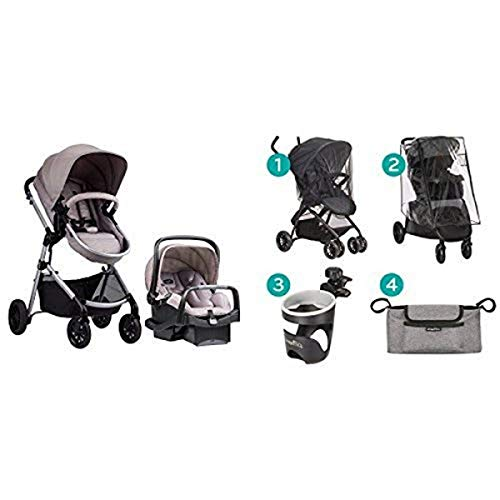 Best Review Of Evenflo Pivot Modular Travel System with Stroller Accessories Starter Kit