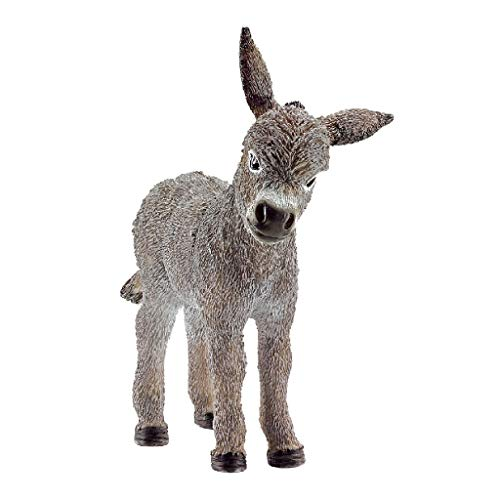 SCHLEICH Farm World Donkey Foal Educational Figurine for Kids Ages 3-8