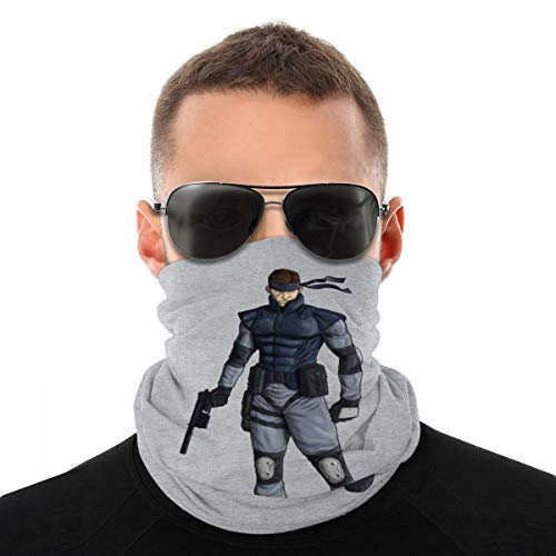 NBUQSG Metal Gear Solid Snake Variety Head Scarf Face Mask Magic Headwear Neck Gaiter Face Bandana Scarf