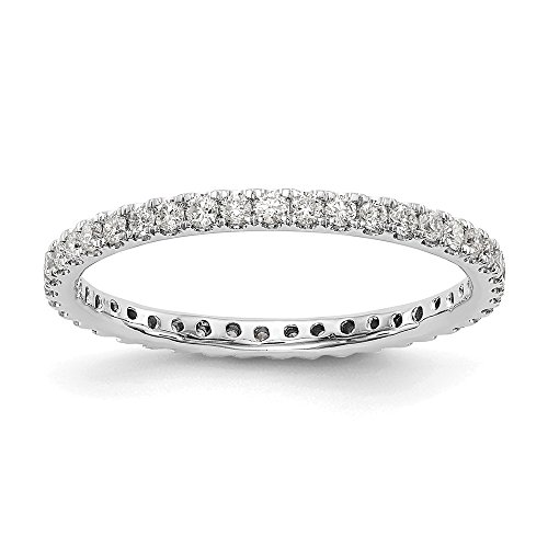Anello Eternity a fascia in oro bianco 14 ct con diamanti coltivati in laboratorio, VS/E 0,492 cttw per le donne