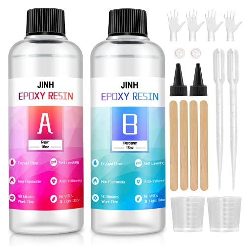 JINH 32oz Epoxy Resin KitCasting and Coating for River Table...