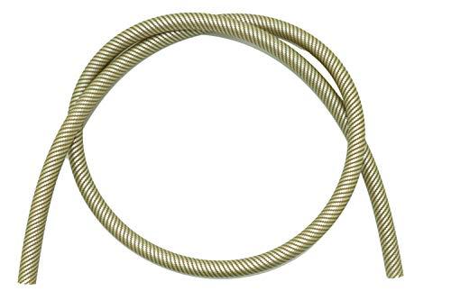 Caesar Manguera de silicona para cachimba Army, 1,50 m, flexible y resistente, color dorado