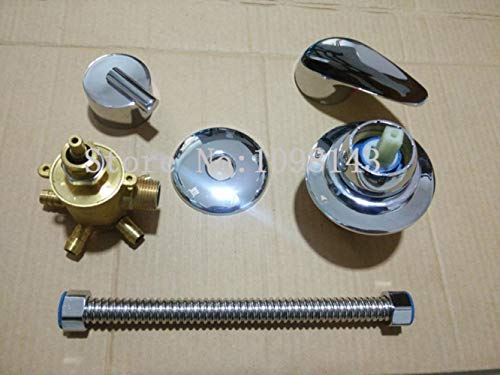 HEHUANG 5 Ways Intubation + Tube Shower Valvola miscelatrice Uscita acqua a 3/4/5 vie Bagno doccia Miscelatore Doccia rubinetto, 3 vie con tubo, 10CM