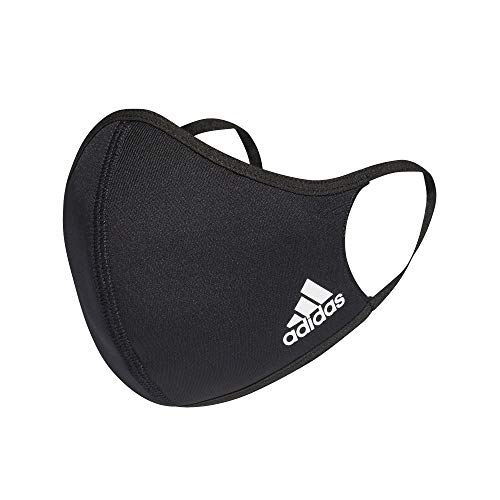 adidas Face Mask Cover Protection Black XS/S (3 Pa...