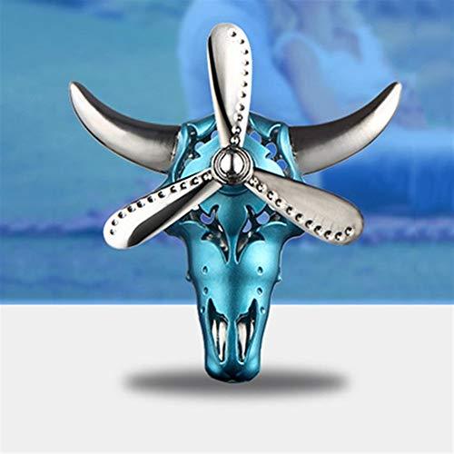 Cylficl Ar Perfume Clip Taurus giratoria Buey de Salida del Aire del ambientador del Sabor de la Fragancia del Olor del Coche Regalos Auto Accesorios de la decoración Interior (Color : Blue)