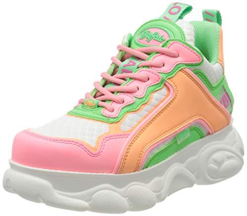Buffalo Damen CHAI Hohe Sneaker, Mehrfarbig (Neon 000), 40 EU