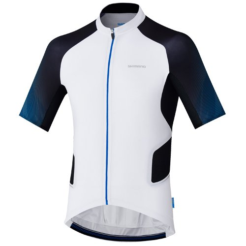SHIMANO Maillot M/C SH Mirror Cool, Hombre, Blanco, XS