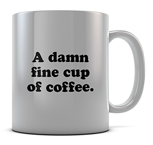 Daytripper Printed A damn fine Tea Cup Novelty of coffee. Funny Novelty Mug