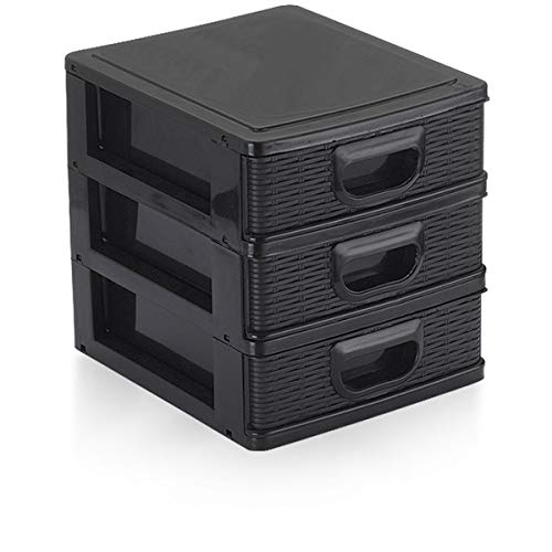 Micro Porta Tudo Textura 3 Gavetas, Cores Sortidas