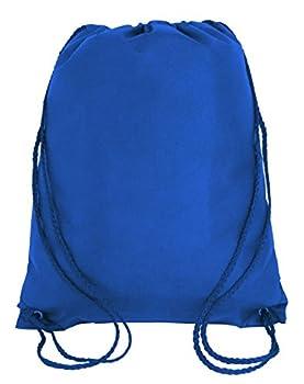 Bulk Drawstring Backpack Bags Sack Pack Cinch Tote Kids Sport Storage Bag for Gym Traveling  10 ROYAL