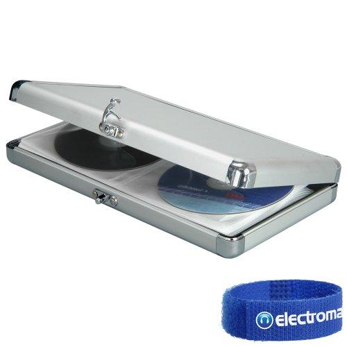 Citronic Qtx Sound Silver Cd Dvd Carry Case For 40 Discs Mobile Dj Transport Flightcase