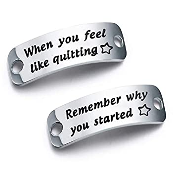 bobauna Shoe Lace Tag When You Feel Like Quitting Remember Why You Started Inspirational Trainer Tags Gift  When quitting remember started