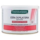 Naturaverde Enthaarungswachs mit Titandioxid für trockene und empfindliche Haut , 3er Pack (3 x 400 ml)