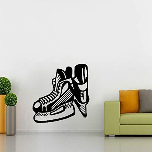 Sticker Wandeine50 Cm * 52,1 Cm Kühlste Wandaufkleber Schlafzimmer Hockey Schlittschuh Klinge Extreme Sport Pvc