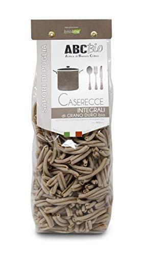 Carioni Food & Health Pasta Integral caserecce de sémola de Trigo Duro ecológica - 500 gr (Paquete de 12 Piezas)