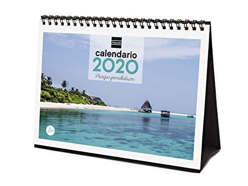 Finocam - Calendario de sobremesa 2020 Imágenes Paisajes Paradisíacos español