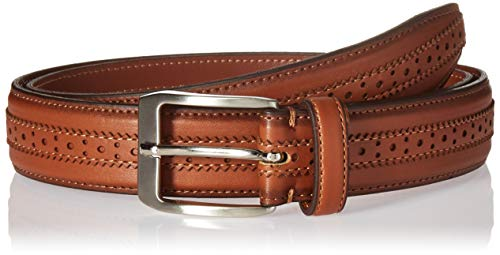 Columbia Men's Big & Tall Trinity Belt-Casual Dress with Single Prong Buckle for Jeans Khakis, Brown, 48