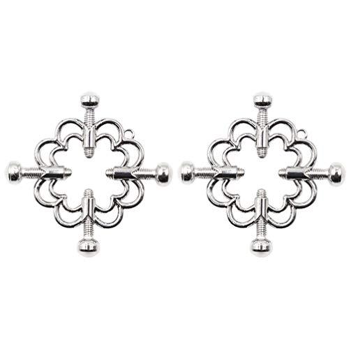 PRETYZOOM 1 Paar Nicht Durchbohrte Nippler-Körper-Piercing-Ringe Einstellbare Nippler-Schildringe Stahlschilde Schraubenkörper-Piercing-Kreisklemme