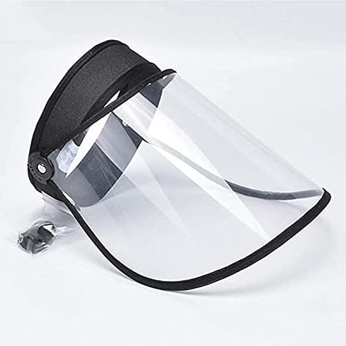 レインバイザー UVカットサンバイザー 透明タイプ おしゃれ 日焼け対策 帽子 つば広幅調節可 防風帽 自転車 防風 晴雨兼用