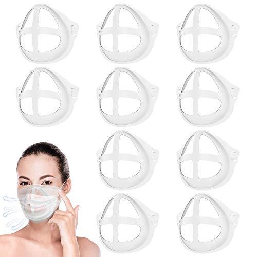 Soporte para máscara 3D – 10 piezas interior de silicona – Soporte de soporte para la nariz para respirar suavemente, accesorios para máscara facial