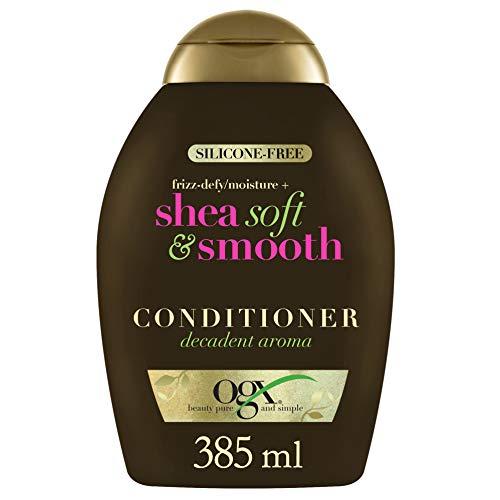 OGX Frizz Defy Moisture Plus Shea Acondicionador suave y suave, 385 ml