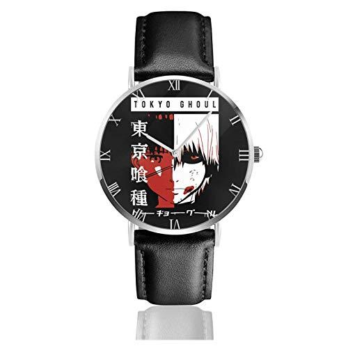Relojes Anolog Negocio Cuarzo Cuero de PU Amable Relojes de Pulsera Wrist Watches Tokyo Ghoul Kaneki Ken