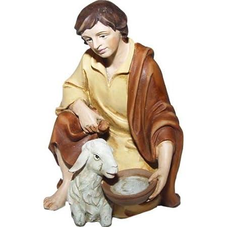 44411218 Krippenfiguren Magd mit zwei Krügen geeignet für 7cm Figuren