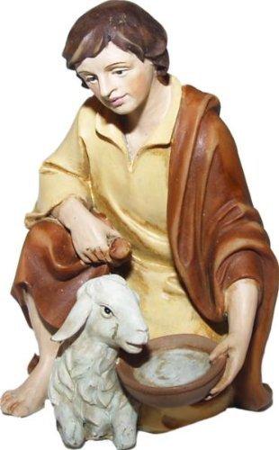 Schäfer kniend, geeignet für 12cm Figuren, handbemalen