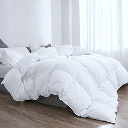 D & G THE DUCK AND GOOSE CO Feather Down Duvet 13.5 Tog, Down Proof Cotton Cover, Winter, 135x200cm