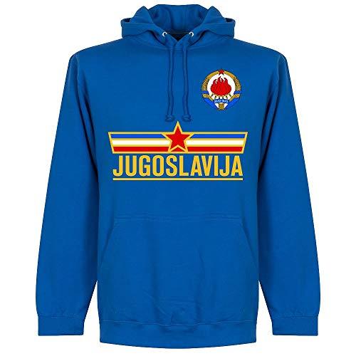 Retake Jugoslawien Team Kapuzenpullover - blau - M