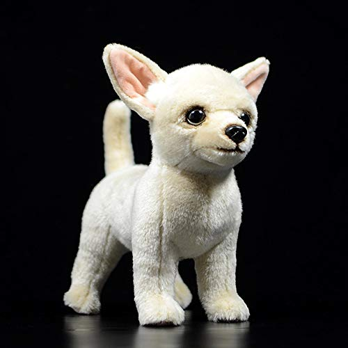 HTRN a Standing Bulldog Chihuahua Plush Toy in Real Life, Soft and Realistic Dog Stuffed Animal Gift Chihuahua