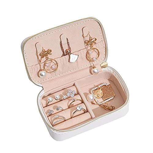 Jewelry Organizer, Mini bolsa de joyería creativa, caja de almacenamiento de cuero para joyería portátil de viaje-C2