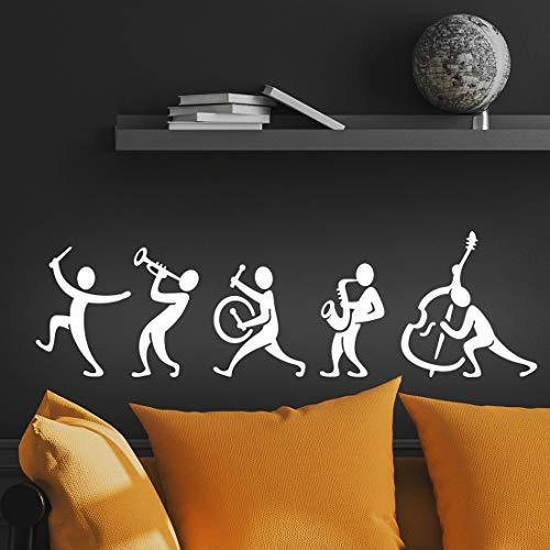 Adesivo da parete a fascia musicale per soggiorno, decorazione per la casa, in vinile, per la cucina, camera da letto, per fai da te, con citazione rimovibile e scritta in lingua inglese