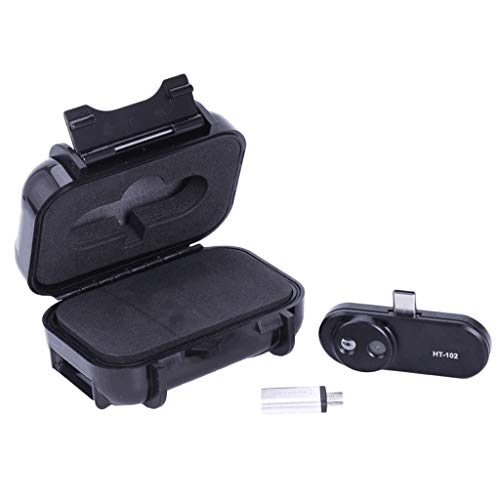 perfk HT-102 Infrarot-Wärmebildkamera mit 32 x 32 IR-Auflösung Handheld-Wärmebildkamera Infrarot-Thermometer für USB-C Handys