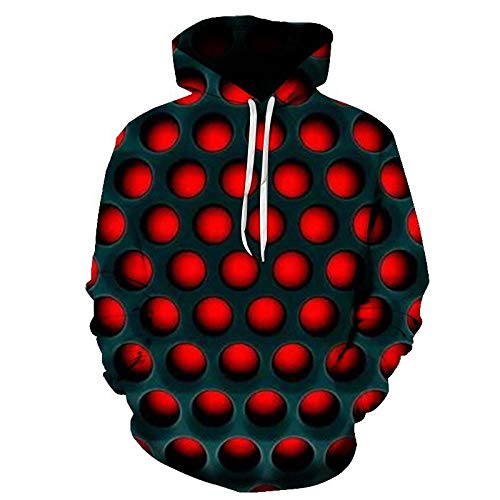 LIUSSIIS Men s Hoodie Sweatshirt Harajuku Men and Women 3D Square Black and White Check Pattern Design Vertigo Printed Hoodies Tops-W2044_XXL