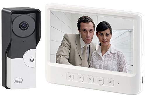 Somikon Videosprechanlage: Video-Türsprechanlage mit 17,8-cm-Farbdisplay, Türöffner & Aufnahme (Türöffner mit Kamera)