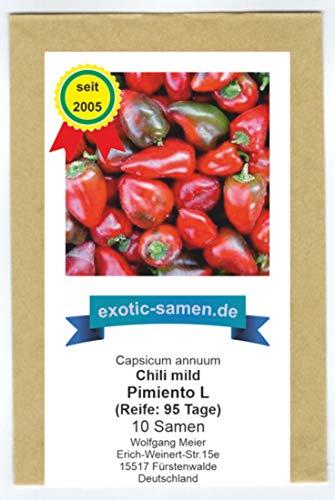 Süßes Chili (Paprika) zum Einlegen oder in den Salat - Pimento L - 10 Samen