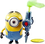 Minions: The Rise of Gru Stuart Button Activated Action Figure Approx 4-in with Sticky Hand Accessory, Gift for Kids Ages 4 Years & Older